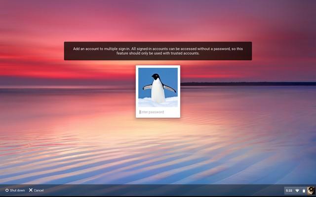 Chrome OS login multiple users