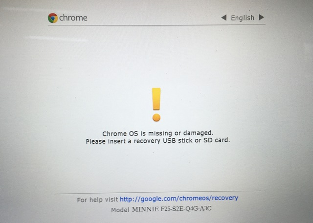 Chrome OS recovery mode