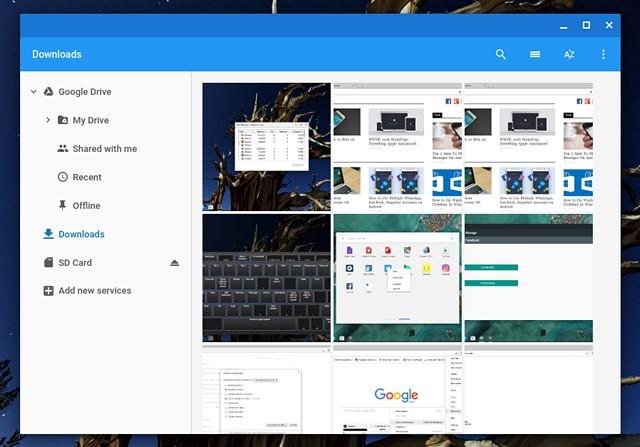 Chromebook Files App
