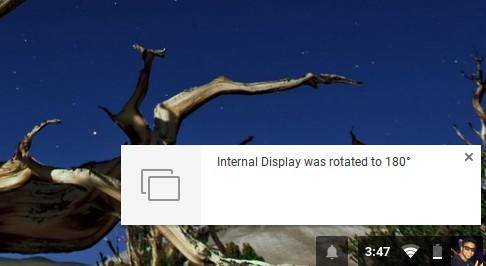Chromebook Shortcuts rotate screen