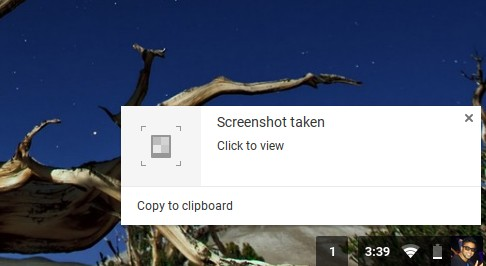Chromebook Shortcuts take screenshot