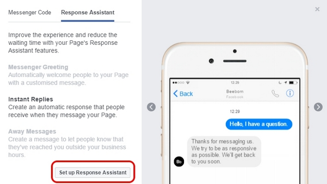 Facebook Page Response Assistant Preview