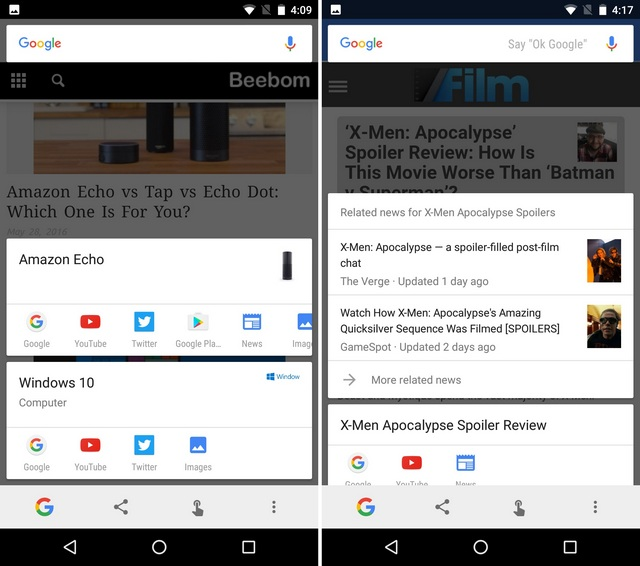 Google Now on Tap get any info