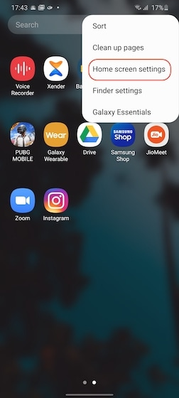 Hiding apps on Samsung 1