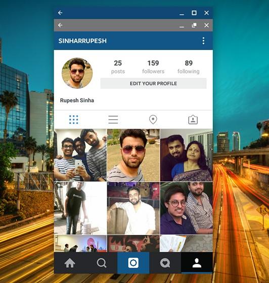 Instagram on Chromebook