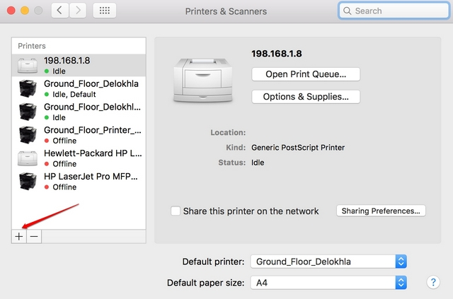 Mac add printer