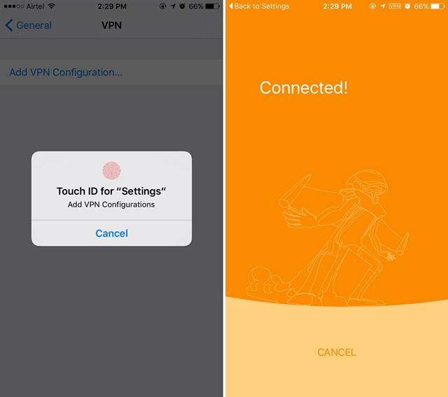 Rocket VPN iPhone configure