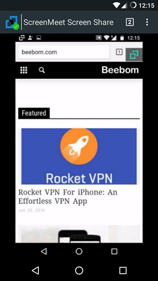 ScreenMeet Share Screen Android