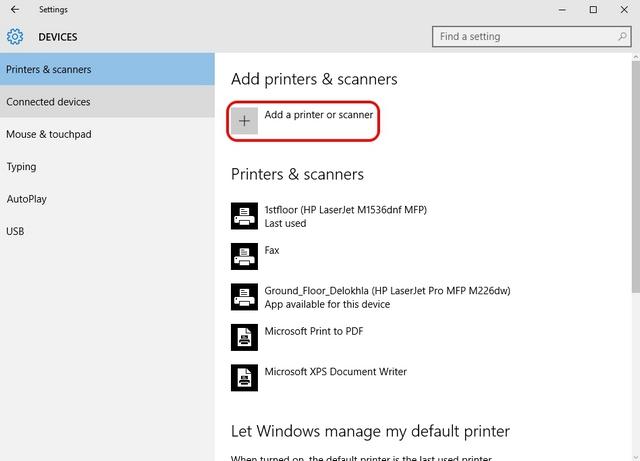 Windows 10 Drucker hinzufügen