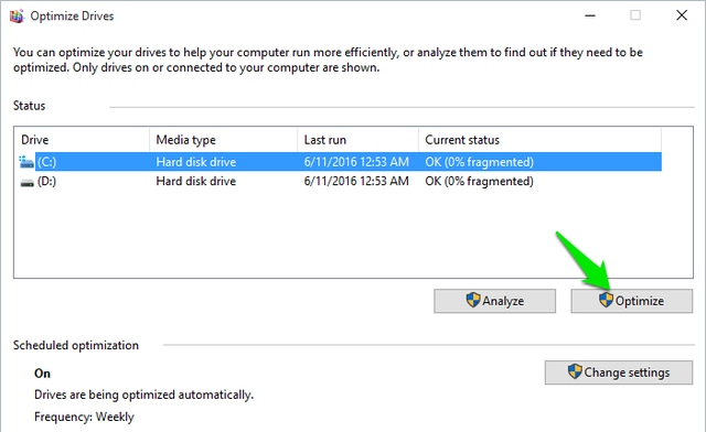 Windows-Defragmentation-tool