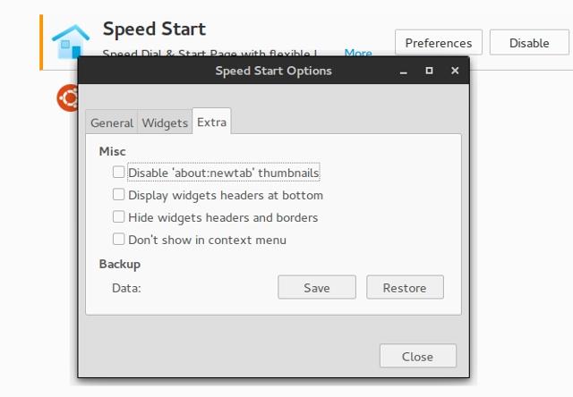 firefox-newtab-speedstart-options