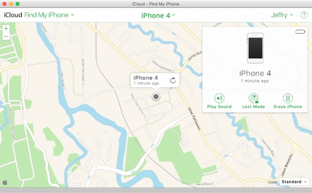 iCloud -bb- find iPhone