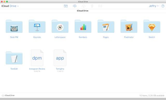 iCloud -bb- iCloud Drive