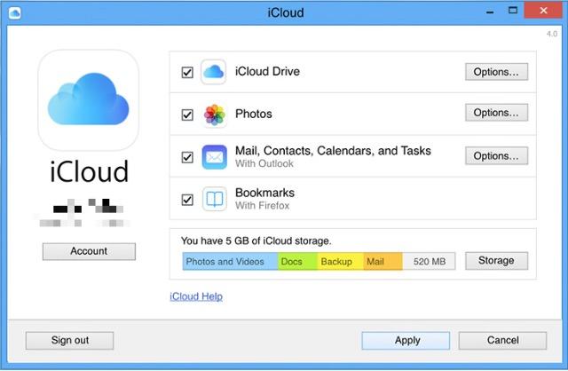 iCloud -bb- iCloud Windows-1