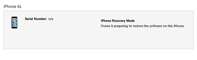 iTunes restore iPhone software