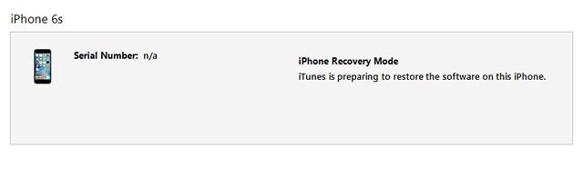 iTunes restore iPhone software