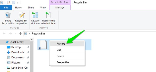 recycle-bin-interface