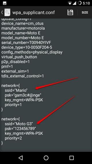 Gespeicherte WiFi-Passwort-Textdatei anzeigen
