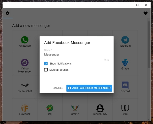 All in one messenger add app