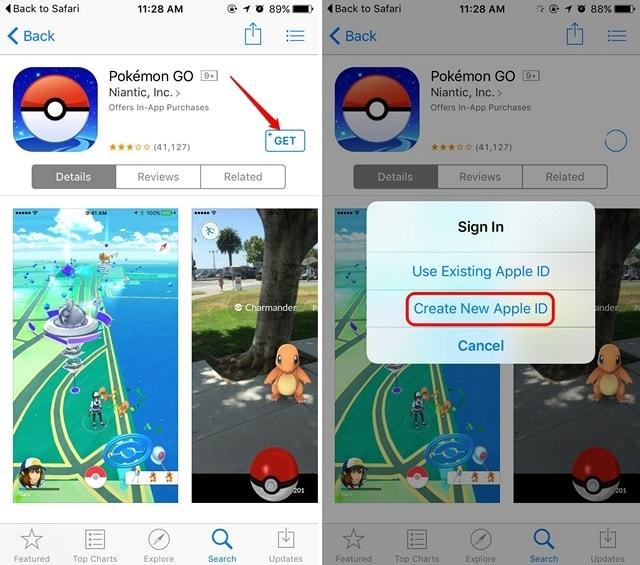 Apple App Store create new Apple ID