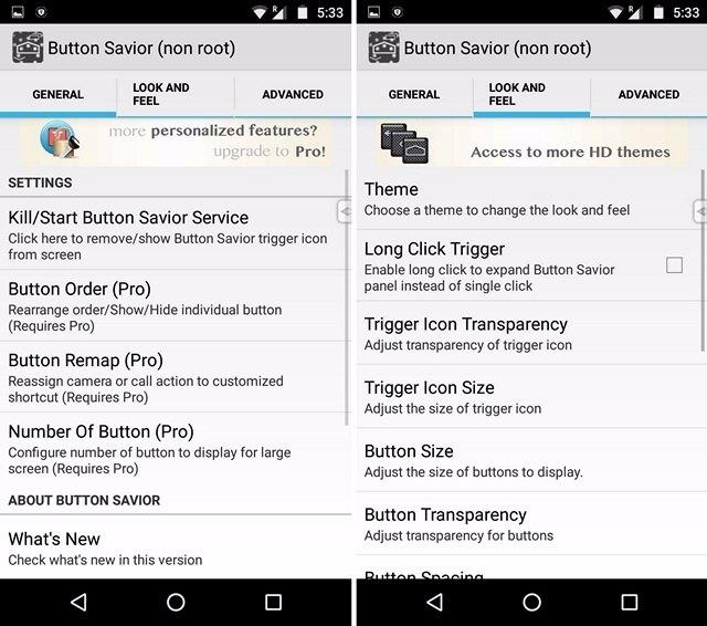 Button Saviour nicht root App