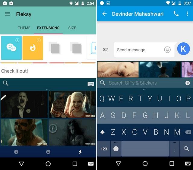 Fleksy GIF Keyboard Android