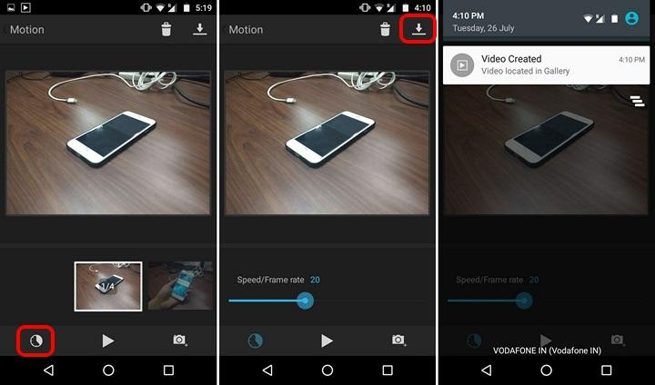 Motion App create stop motion videos