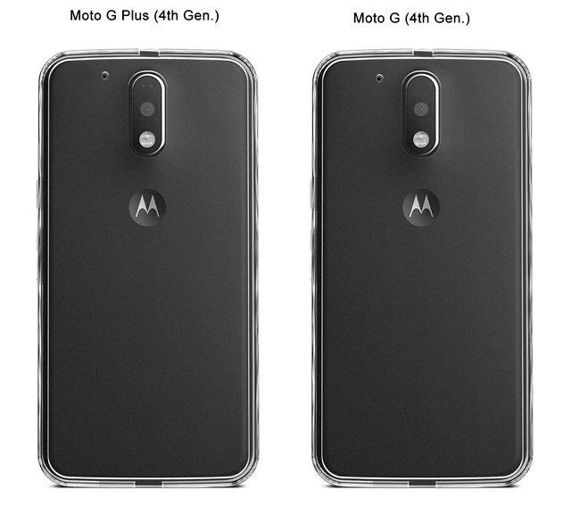 Moto G4 transparent case