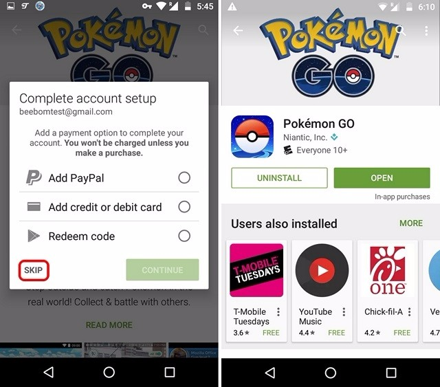 Pokemon Go installed from Play Store in unsupported country-compressed