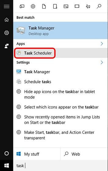 Search Task Scheduler