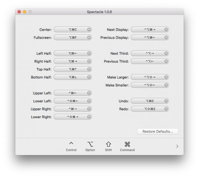productivity on Mac Spectacle