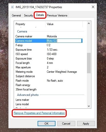 Windows edit EXIF data
