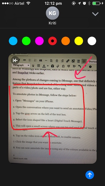 iOS 10 tricks annotating picture
