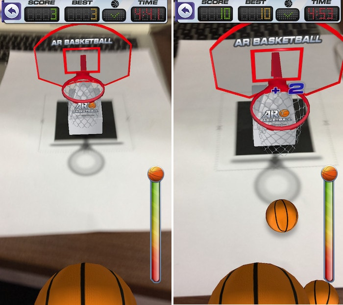 10 free AR apps ar basketball gameplay