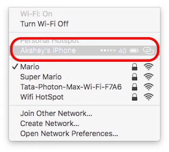 view saved iphone wifi passwords connect personal hotspot