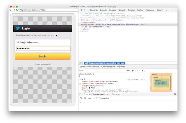 view password hidden behind asterisk developer console
