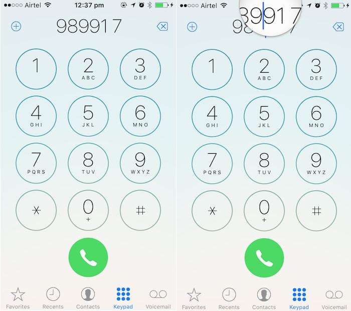 iOS 10 tricks edit dialled numbers