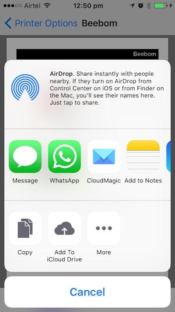 iOS 10 tricks export as pdf
