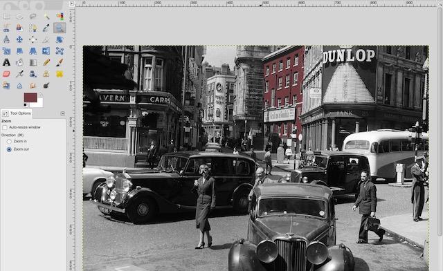 Farb-Schwarzweiß-Fotos GIMP