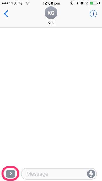 iOS 10 tricks gray arrow icon