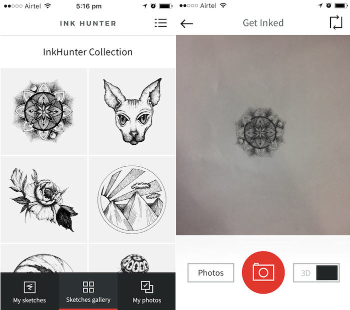 10 free AR apps inkhunter