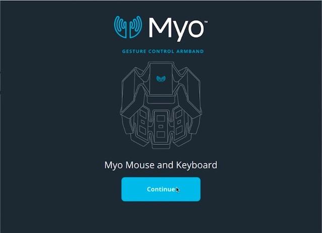 myo gesture control armband review myo connect application screenshot