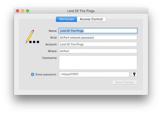 password displayed view saved wifi password