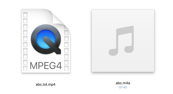 get dropbox like link file sharing in icloud rename downloaded file back to m4a