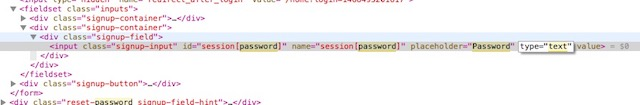 view password hidden behind asterisk change password to text