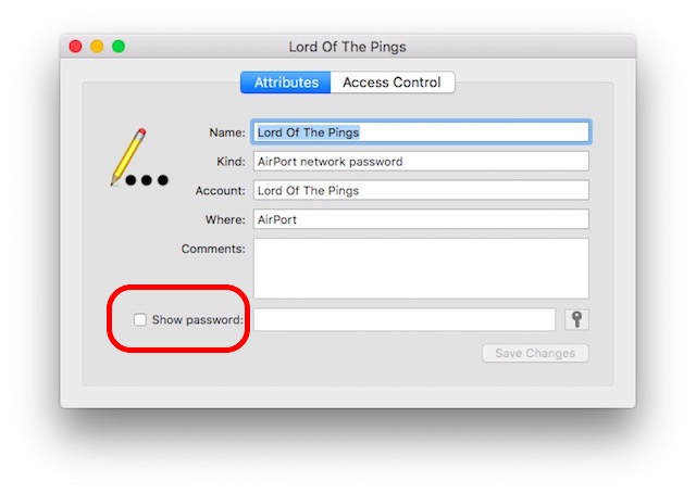 view saved iphone wifi passwords show password check box