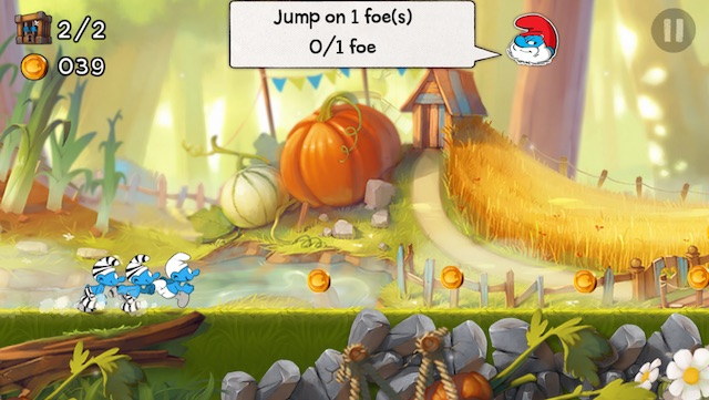 latest iPhone games smurfs running
