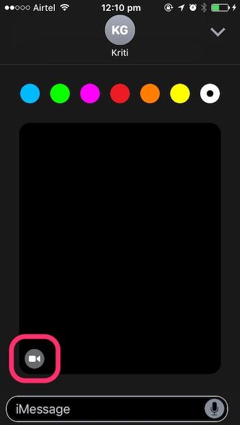 iOS 10 tricks video camera icon