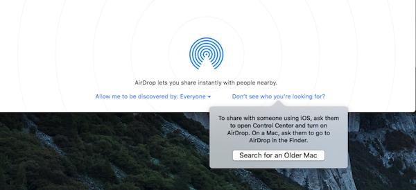AirDrop Legacy Mac