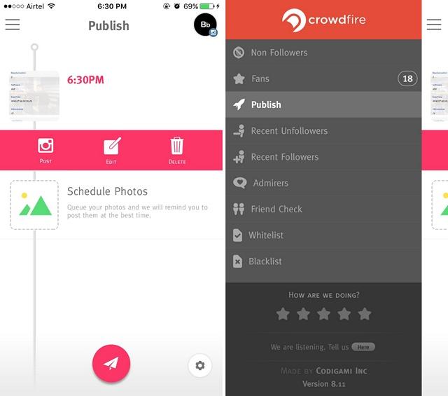 Crowdfire app